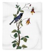 Audubon: Warbler, (1827-38) Fleece Blanket