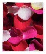 Back Lit Flower Petals 1 Fleece Blanket