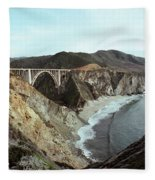 Bixby Creek Bridge Big Sur Photo By Pat Hathaway Fleece Blanket