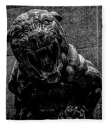 Black Panther Statue Fleece Blanket