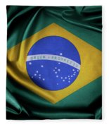 Brazil Flag Fleece Blanket