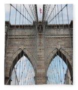 Brooklyn Bridge - New York City Fleece Blanket