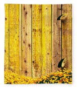 California Golden Poppies Eschscholzia Fleece Blanket