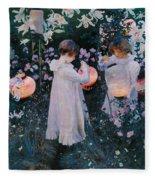 Carnation Lily Lily Rose Fleece Blanket
