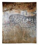 Cave Art: Horse Fleece Blanket