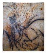 Cave Art: Mammoth Fleece Blanket
