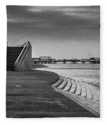 Central Pier Blackpool Fleece Blanket