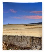 Cereal Fields Fleece Blanket