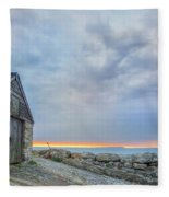 Chapman's Pool - England Fleece Blanket