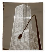 Chicago Skyscraper Fleece Blanket