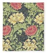 Chrysanthemum Fleece Blanket