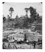 Civil War: Pontoon Bridge Fleece Blanket