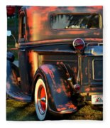 Classic Ford Pickup Fleece Blanket