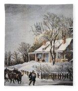Currier & Ives: Winter Scene Fleece Blanket