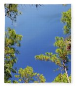 4- Cypress Trees Fleece Blanket