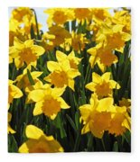 Daffodils In The Sunshine Fleece Blanket