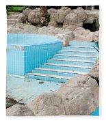 Derelict Swimming Pool Fleece Blanket