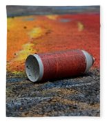 Discarded Spray Paint Can Fleece Blanket
