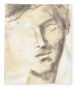 Drawing Of Ancient Sculpture Fleece Blanket