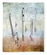 Fender Guitar Patent From 1951 Fleece Blanket