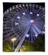 Ferris Wheel At The Texas State Fair In Dallas Tx Fleece Blanket