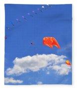 Flying Kite Festival  Fleece Blanket