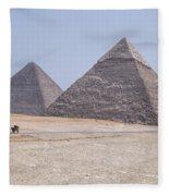Great Pyramids Of Giza - Egypt Fleece Blanket