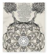 Hebrew Prayer- Toda- Thanks To The Lord Fleece Blanket