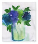 4 Hydrangeas Fleece Blanket