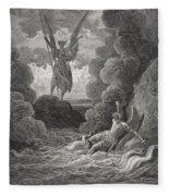 Illustration By Gustave Dore 1832-1883 Fleece Blanket