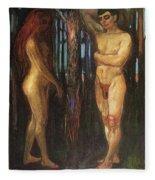 img693 Edvard Munch Fleece Blanket