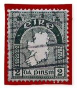 Irish Postage Stamp Fleece Blanket