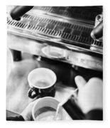 Italian Espresso Expresso Coffee Making Preparation With Machine Fleece Blanket