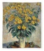 Jerusalem Artichoke Flowers Fleece Blanket