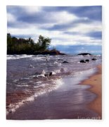 Lake Superior Shoreline Fleece Blanket