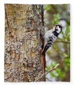 Lesser Spotted Woodpecker Fleece Blanket