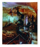 Marble Cave Crimea Fleece Blanket