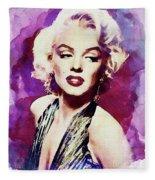 Marilyn Monroe, Actress And Model Fleece Blanket