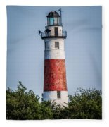 Middle Island Lighthouse Fleece Blanket