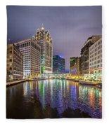 Milwaukee Wisconcin City And Street Scenes Fleece Blanket