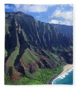 Na Pali Coast Aerial Fleece Blanket