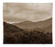 Nature Landscapes Around Lake Santeetlah North Carolina Fleece Blanket