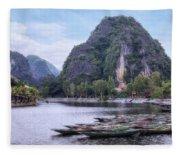 Ninh Binh - Vietnam Fleece Blanket