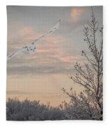 Snowy Owl Glide Fleece Blanket