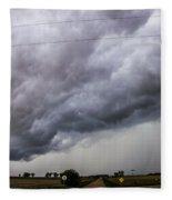 Non Severe Nebraska Thunderstorms Fleece Blanket