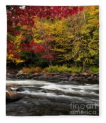 Ontario Autumn Scenery Fleece Blanket