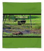 4-others Code Fleece Blanket