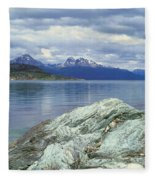 Panoramic View Of Ushuaia, Tierra Del Fleece Blanket