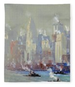 Pennell, New York City.  Fleece Blanket