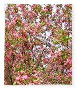 Pink Cherry Tree Fleece Blanket